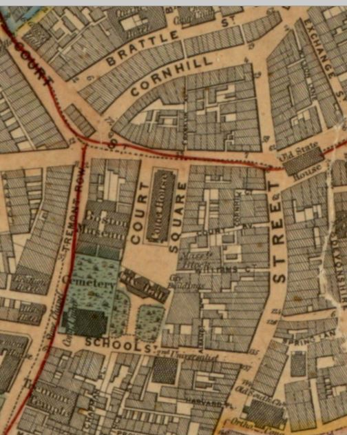 Detail Salter & Callahan 1852 Map of the City of Boston