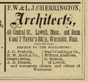 Cherrington 1874 Ad Lowll Diretorry