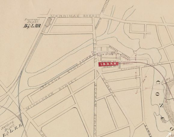Detail 1874 Lowell & Andover RR Plan